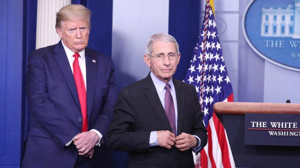 Le président et Anthony Faucy