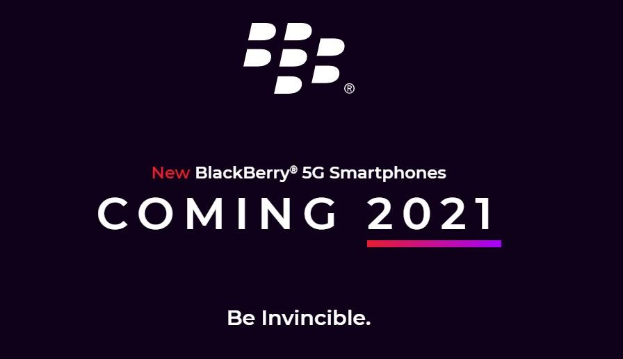 Blackberry Coming 2021