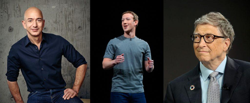 Mark Zuckerberg Jeff Bezos Bill Gates les plus riches au monde