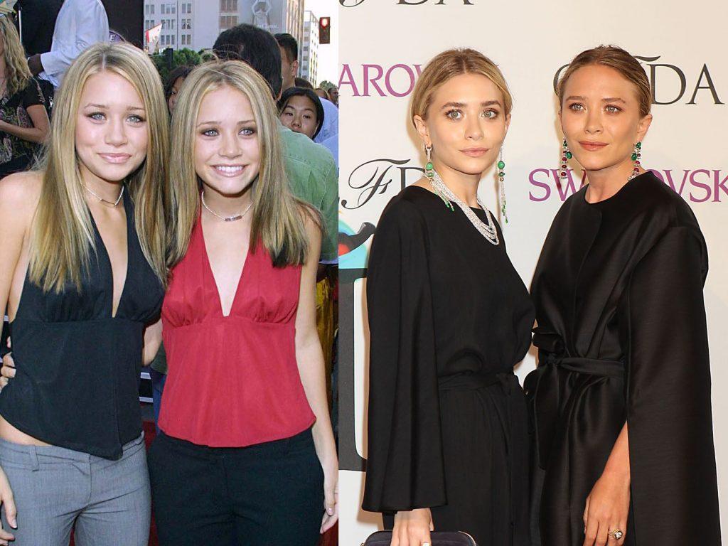 Avant/après : les jumelles Olsen