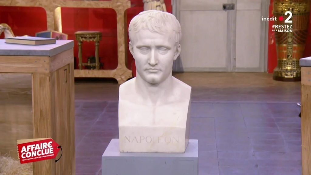 Affaire conclue : Buste en marbre de Napoléon Bonaparte