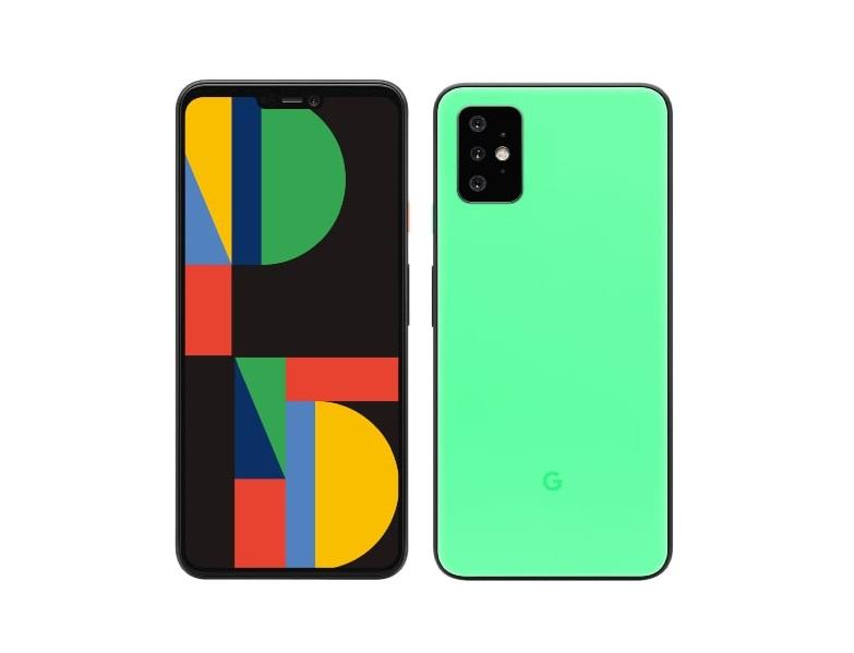 Google Pixel 5 en vert