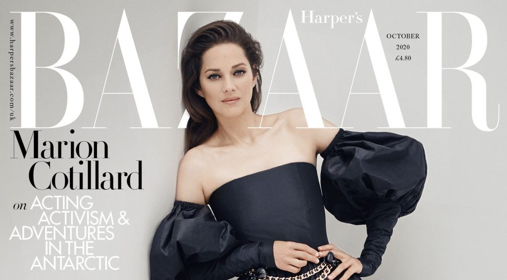 Marion Cotillard dans Harper's Bazaar