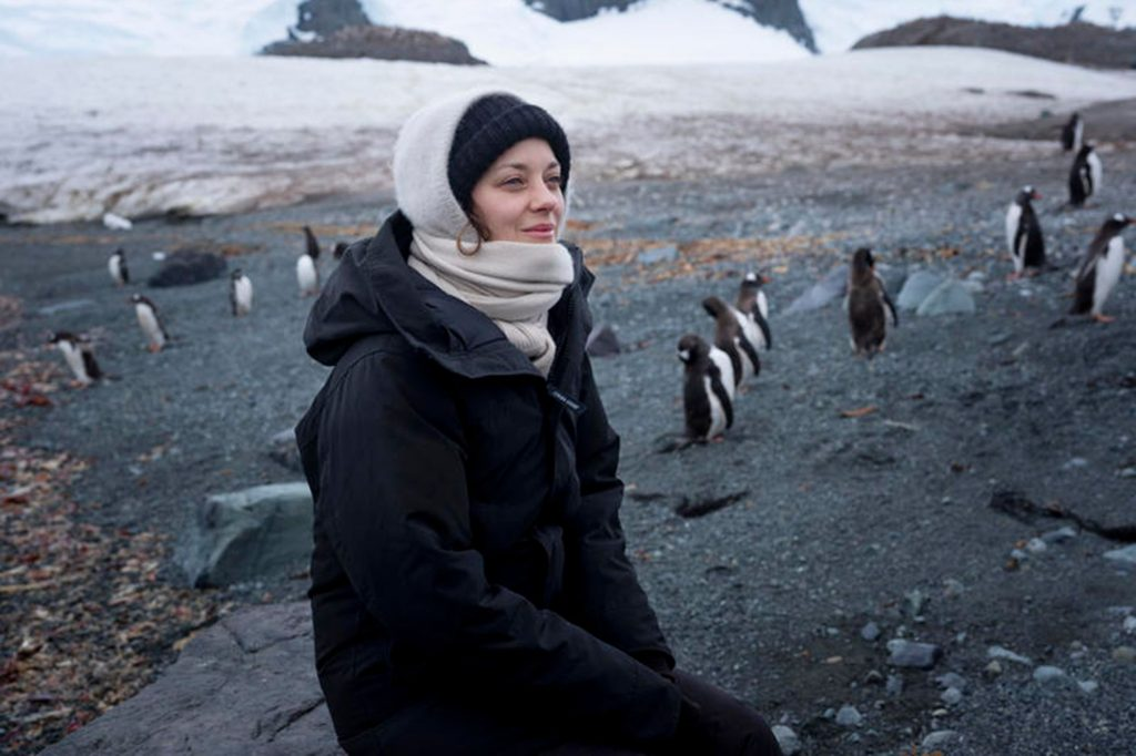 L'actrice en Antarctique