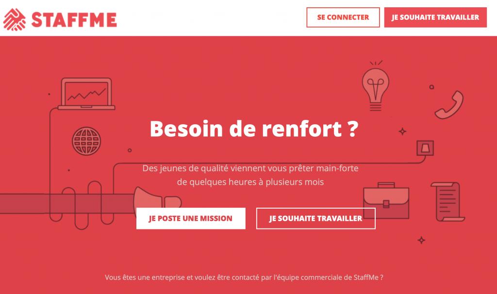 Emploi pour étudiants : Staffme.fr