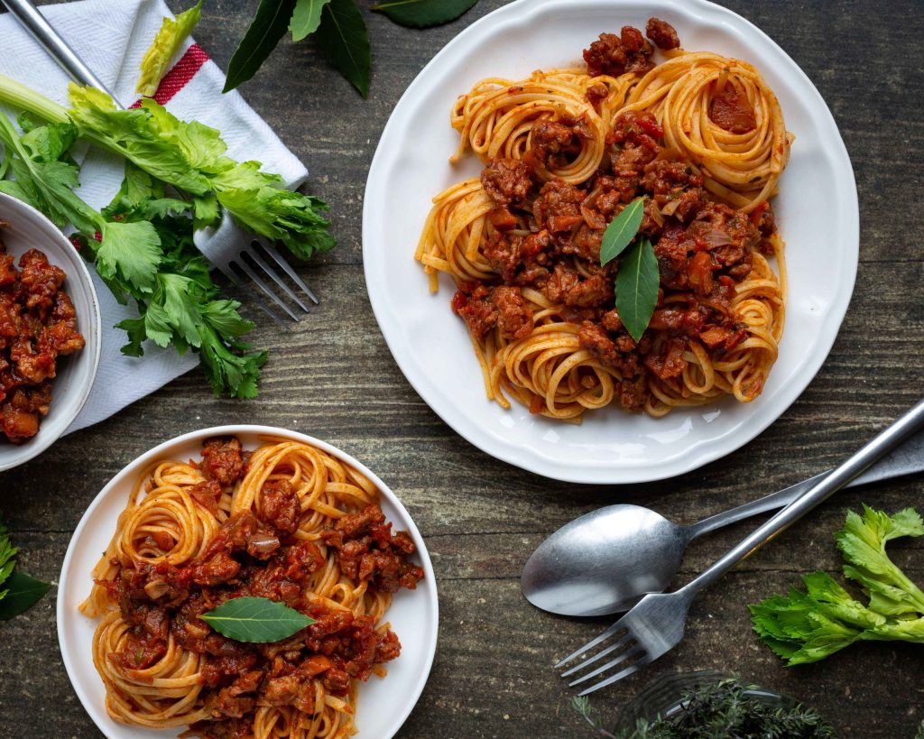 Spaghettis bolognaises vegan : Une recette by Clémence Catz
