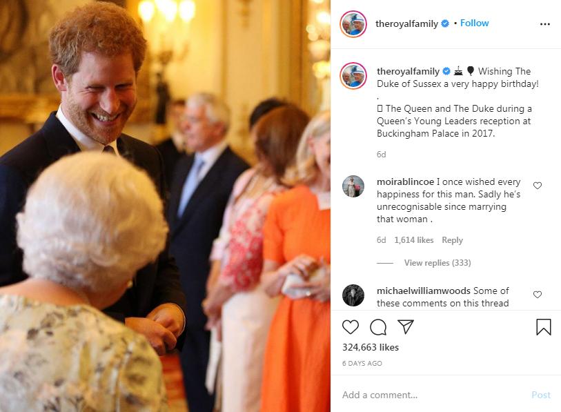 Message de la famille royale