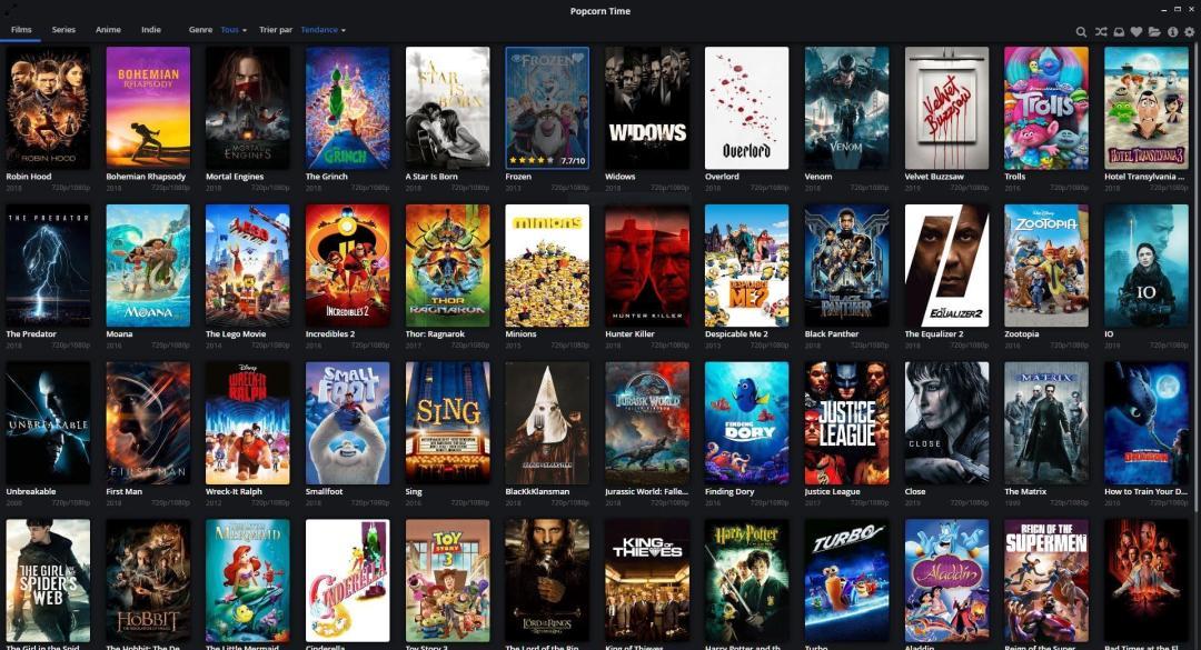 selection de films