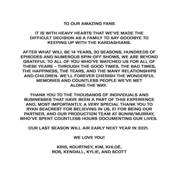 Le message de Khloé Kardashian