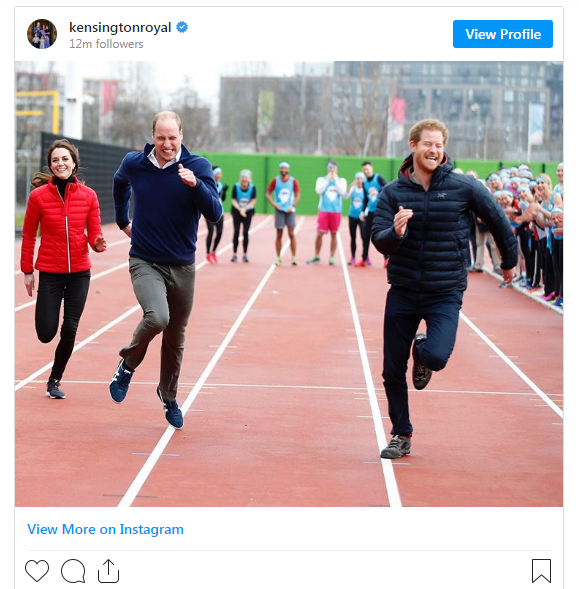 Message du prince William au prince Harry
