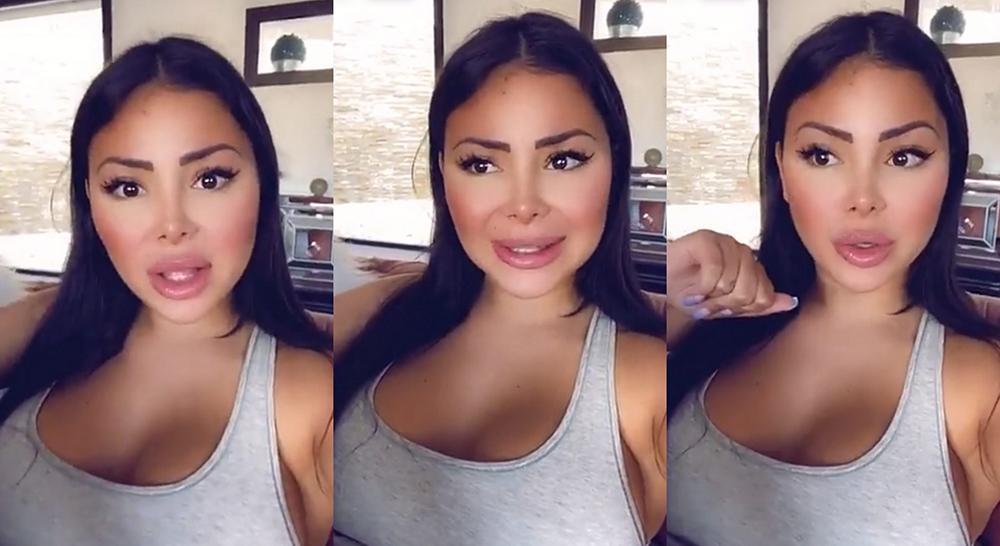 Maeva Ghennam s'emporte sur Snapchat