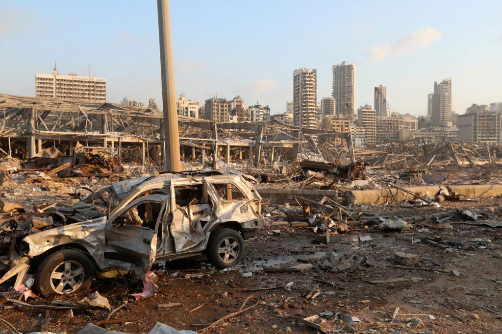 Les dégâts de l'explosion Beyrouth