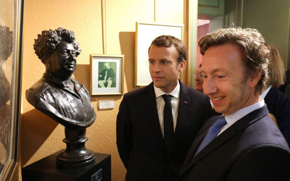 Stéphane Bern et Macron