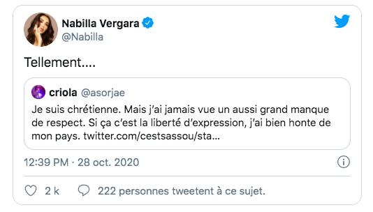 Le tweet de Nabilla