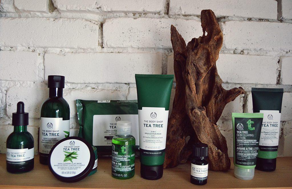 La gamme à l'arbre à thé de The Body Shop