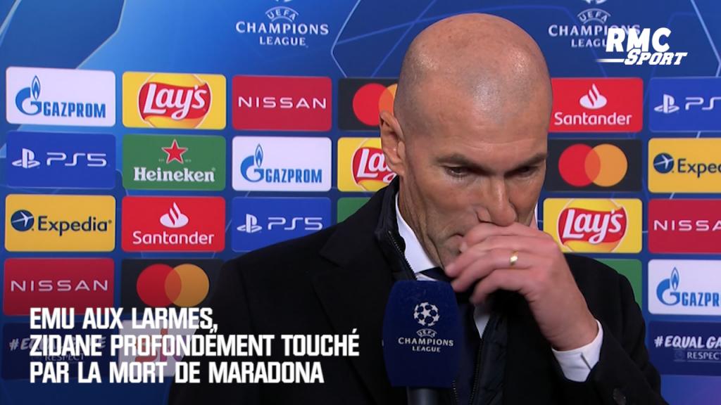Zinédine Zidane ému par la mort de Diego Maradona