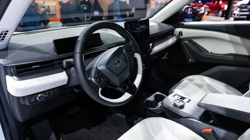 Intérieur de la Mustang Mach-E