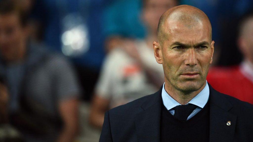 Zinédine Zidane très triste
