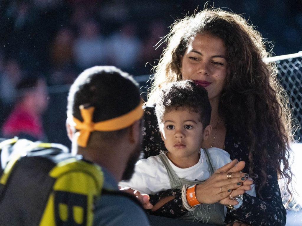 Joe-Wilfried Tsonga très complice avec sa femme Noura et son fils