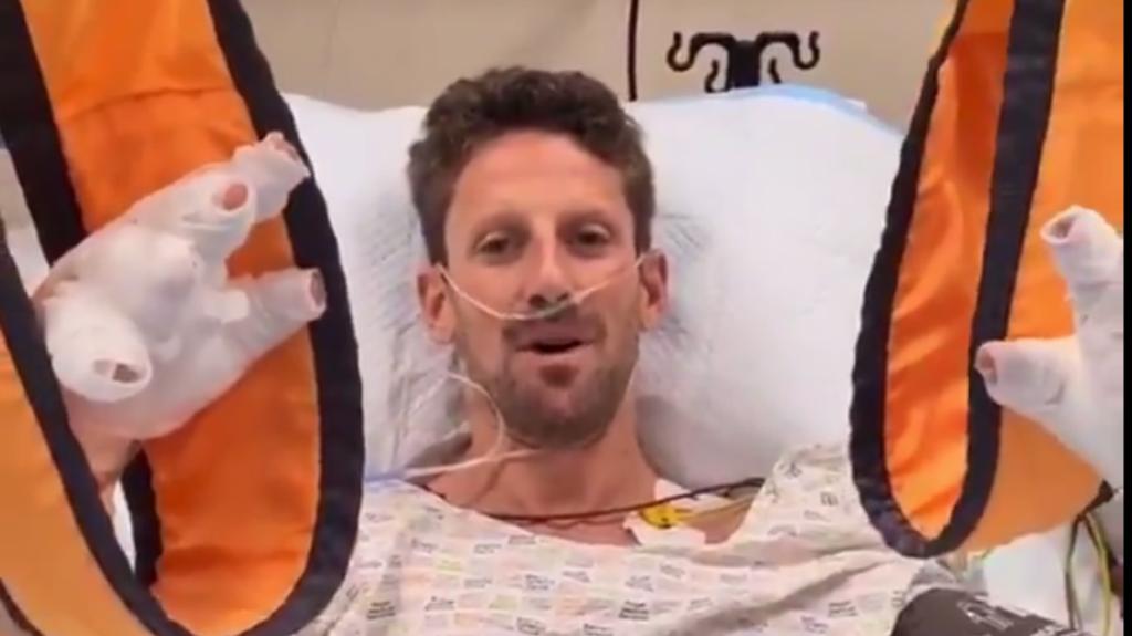 Romain Grosjean : Rassure ses fans depuis l'hôpital après son horrible accident