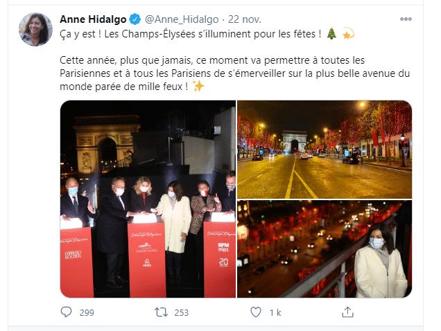 Anne Hidalgo enthousiaste à l'idée de commencer les festivités