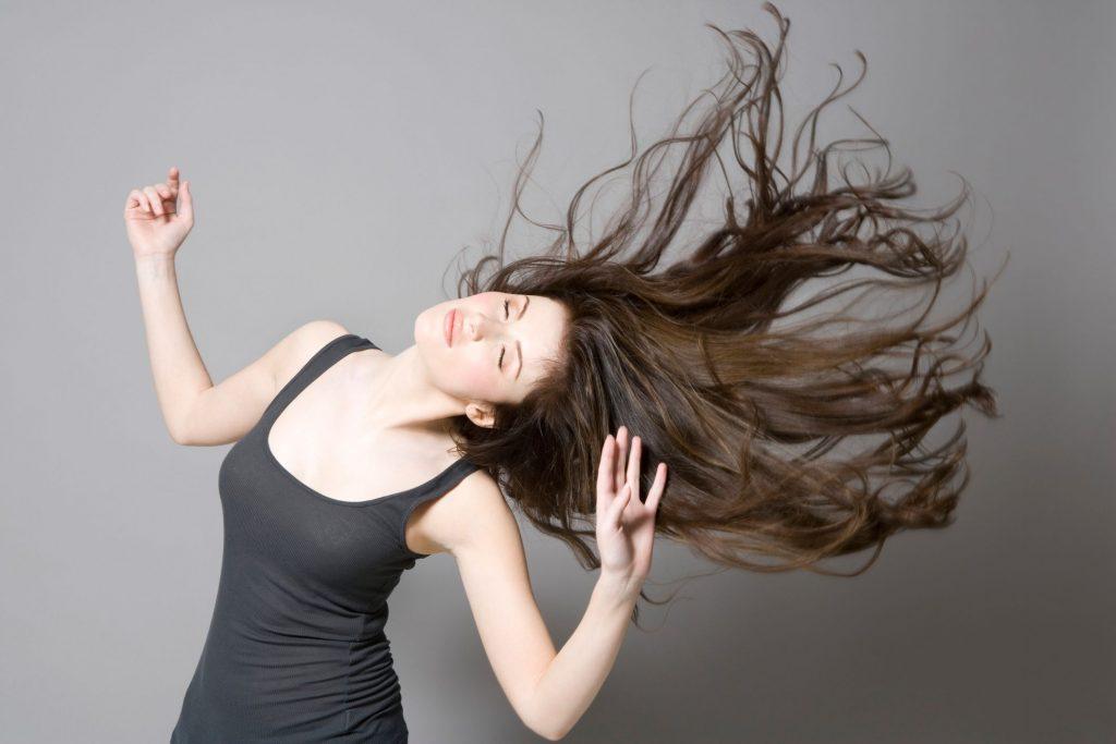 Cheveux en bonne santé