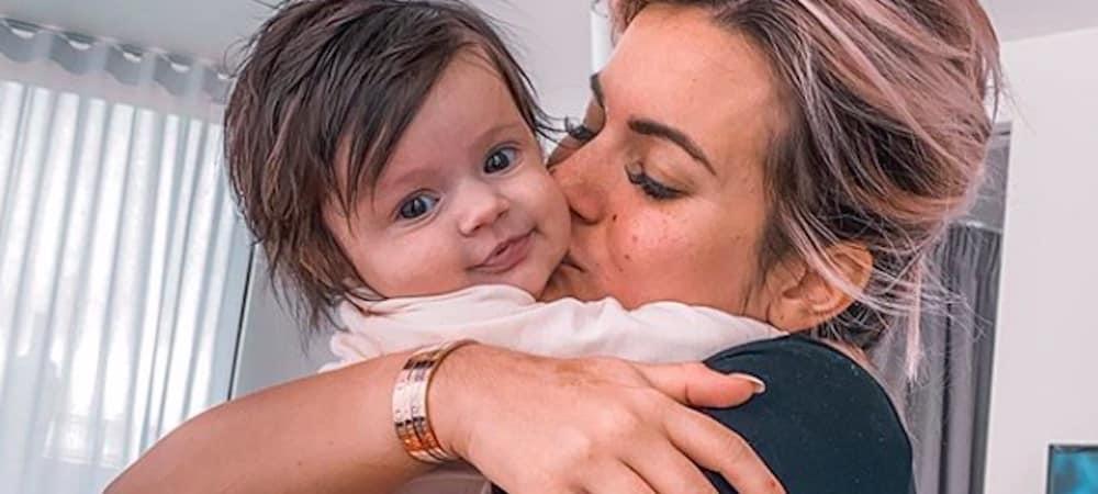 Carla Moreau après la naissance de Ruby