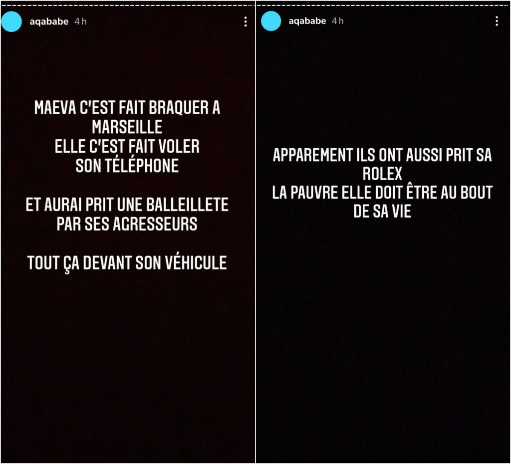 Story Snapchat : Agression de Maeva