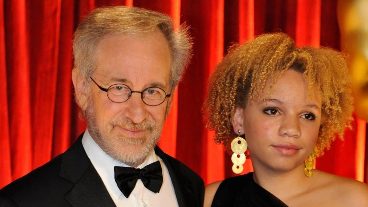 Steven Spielberg et sa fille Mikaela