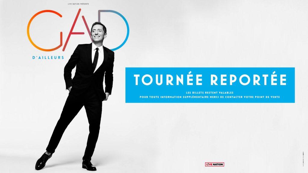 Gad Elmaleh: Le report de sa tournée *D'ailleurs*