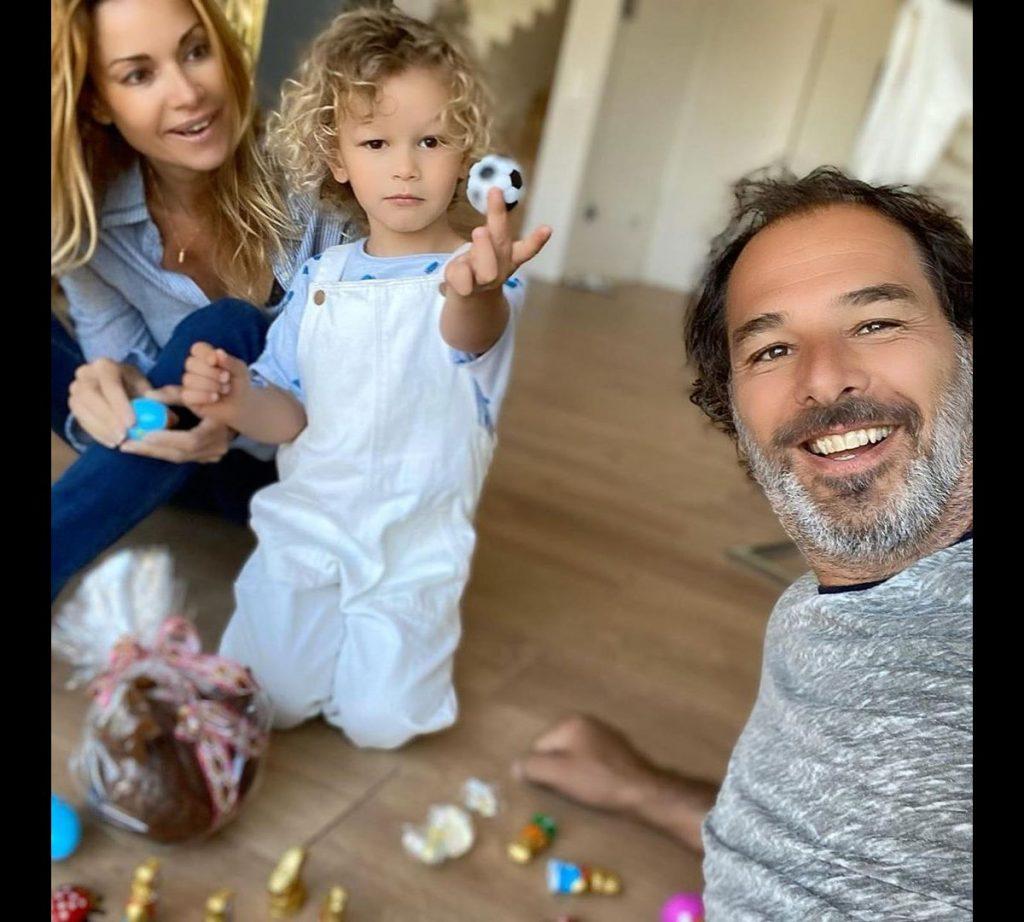 Ingrid Chauvin, Thierry Peythieu et leur fils Tom