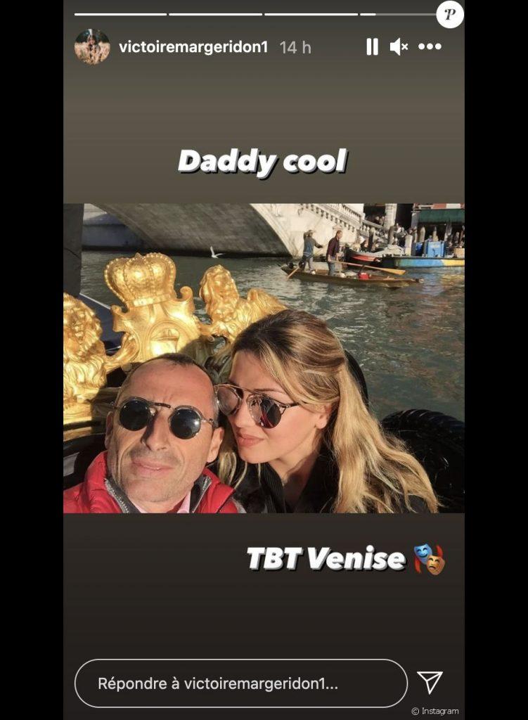 La fille de Caroline Margeridon avec son père