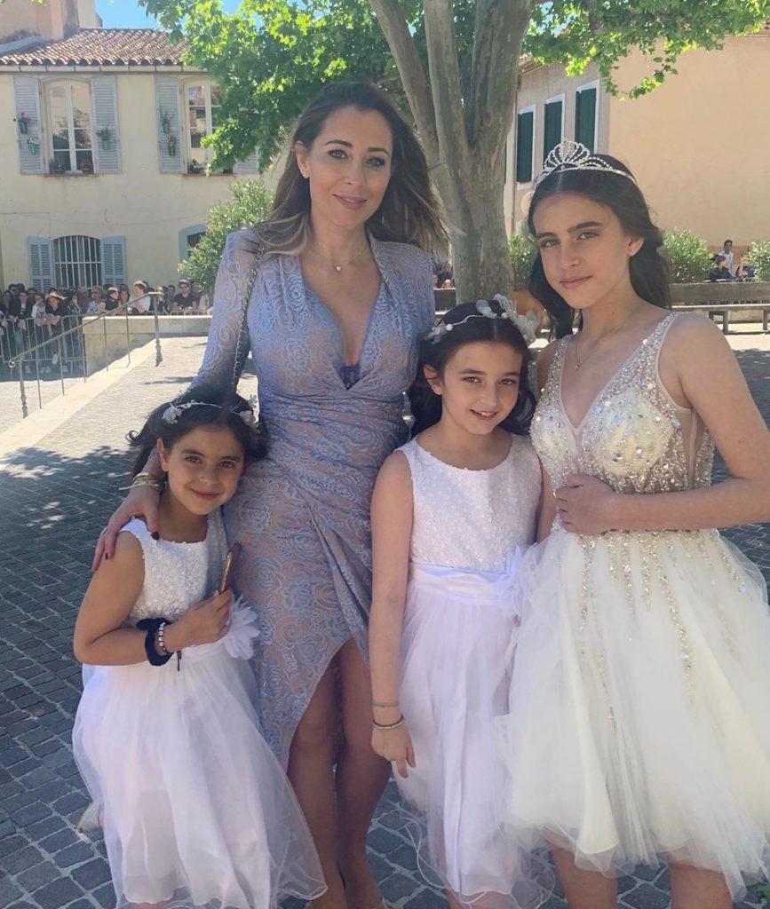 Magali Berdah et ses filles