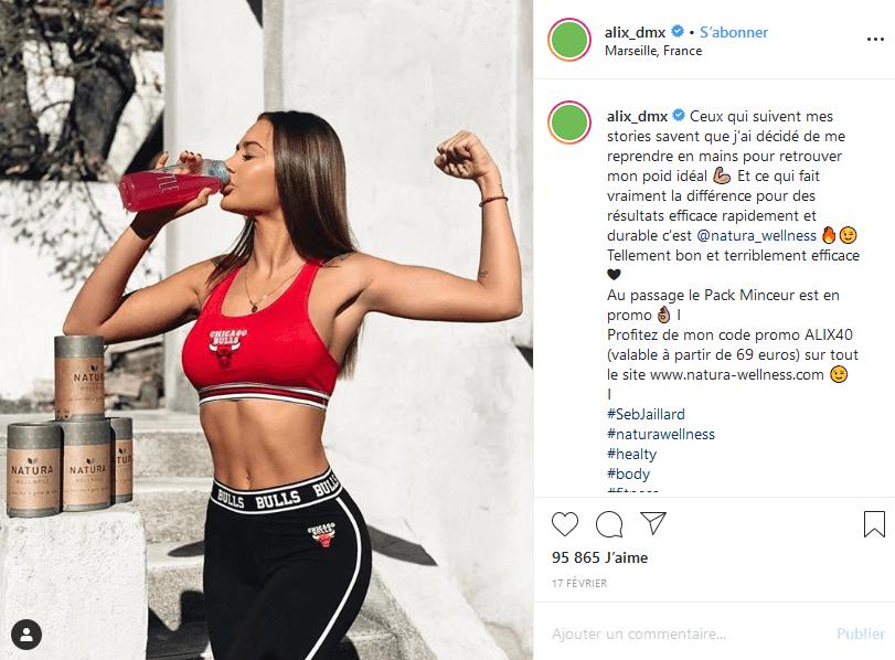 Les placements de produits d'Alix