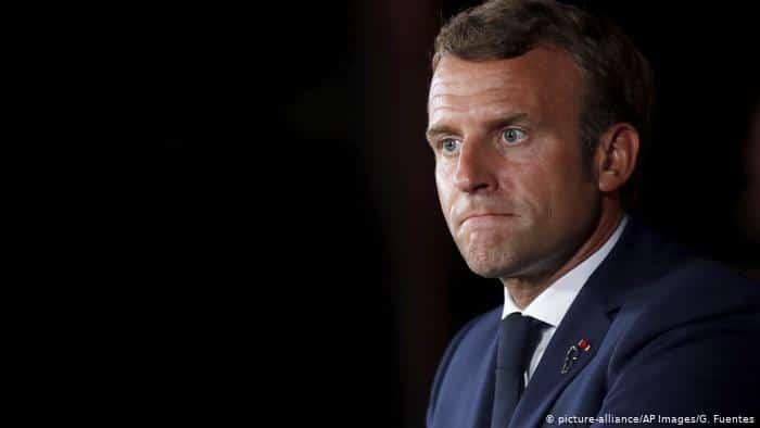 Emmanuel Macron en colère