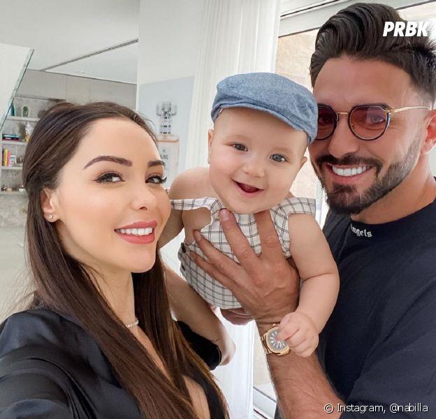Nabilla et Thomas Vergara avec leur enfant