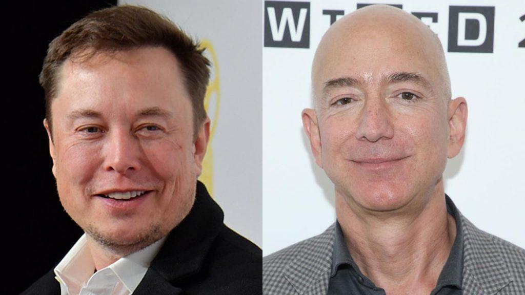 Elon Musk et Jeff Bezos