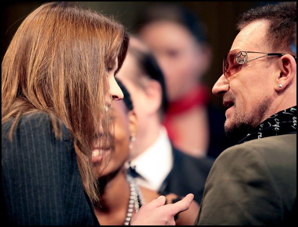 Carla Bruni et Bono