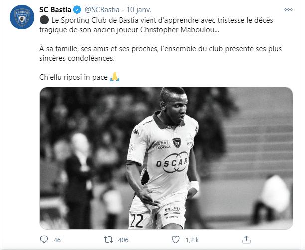Christopher Maboulou: Une triste nouvelle !