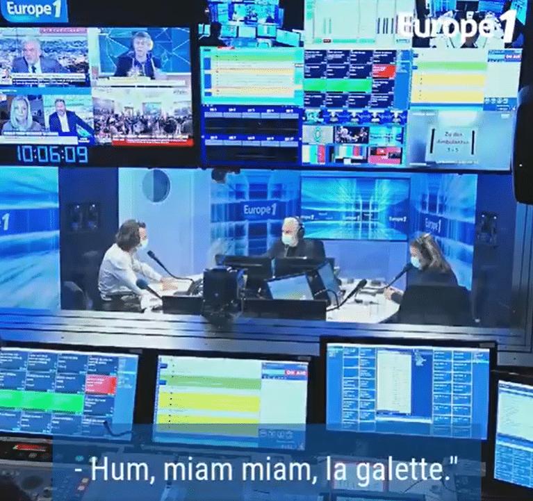 Quand Julian Bugier fait « miam miam la galette »