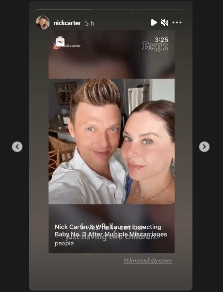 Nick Carter et Laura : Un bébé numéro 3