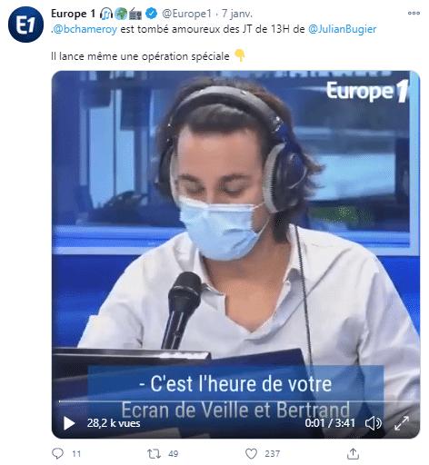 Bertrand Chameroy se moque de Julian !
