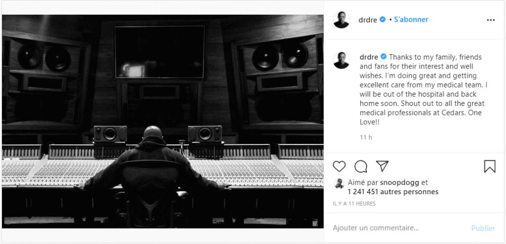 Dr. Dre rassure ses fans !