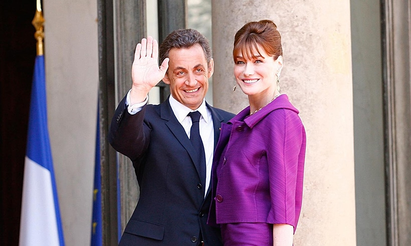 Nicolas Sarkozy et sa femme