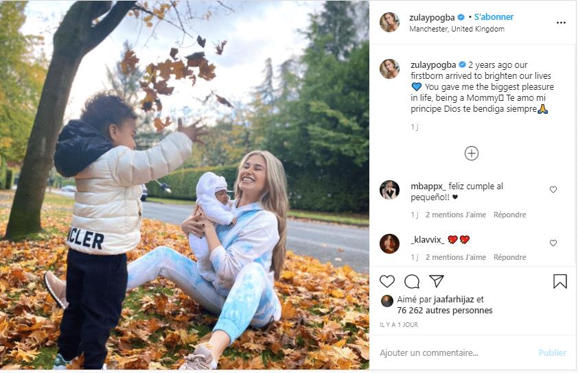 Sa femme a aussi publié une photo !