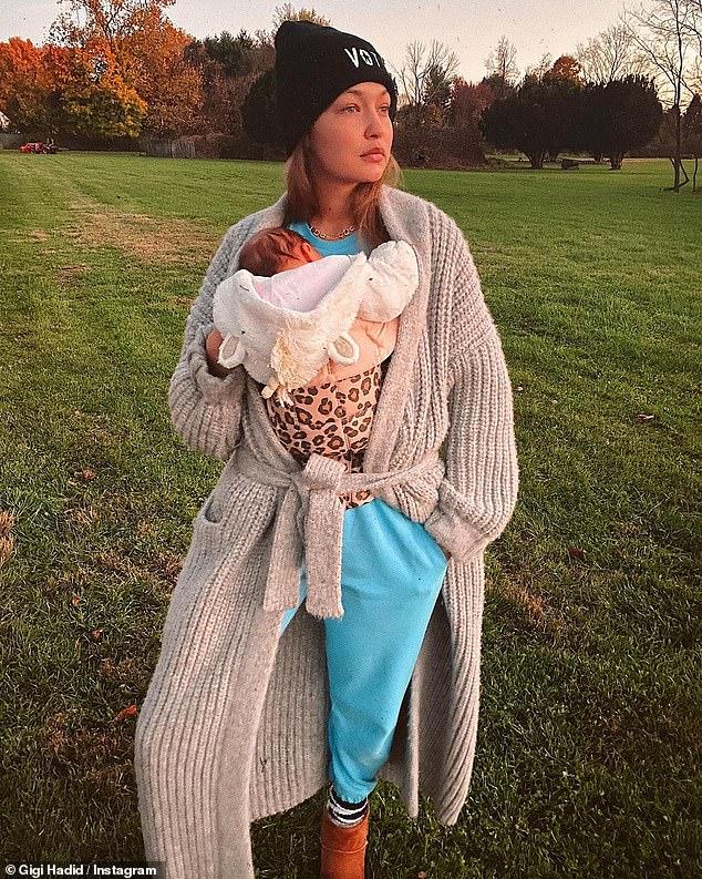 Gigi Hadid et sa fille Khai