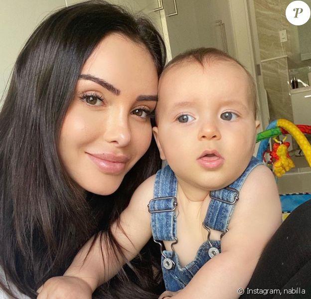 Nabilla et son fils Milann