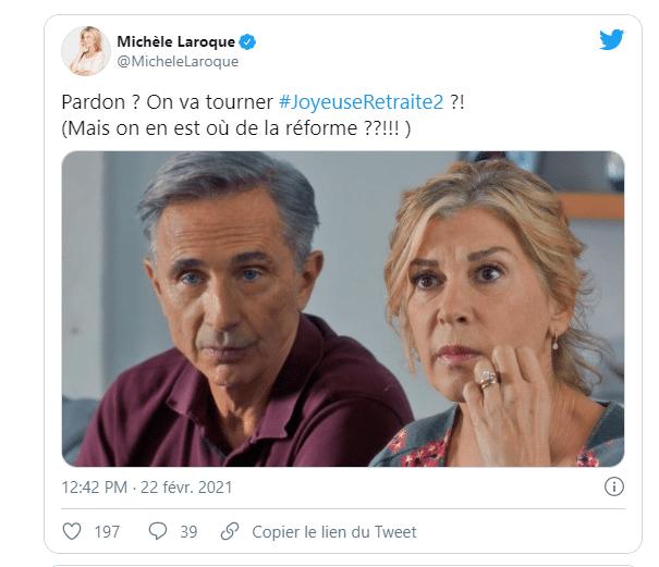 Post Twitter sur la retraite