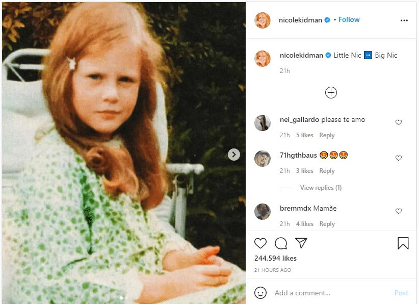 Nicole Kidman enfant