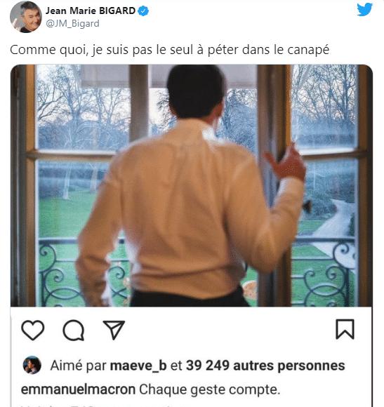 Compagne d'Emmanuel Macron pour les gestes barrières